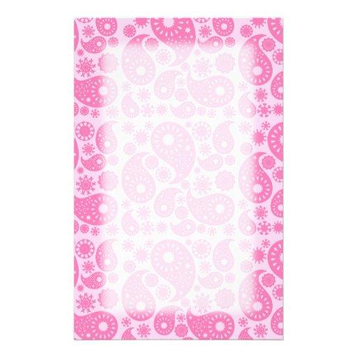 Paisley rosada papeleria de diseño