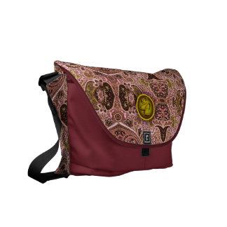 Paisley rosada real (EC) Bolsas De Mensajería