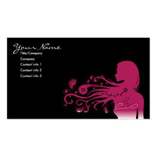 Paisley rosada tarjetas de visita