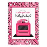 Paisley rosada y receta retra de la estufa tarjetas de visita