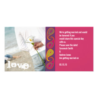 Paisley Save the Date Photo Card