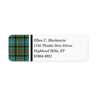 Paisley Scotland District Tartan Label