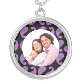 Paisley Silver Plated Necklace