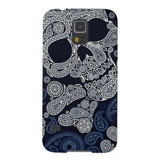 Paisley Skull Graphic Print Galaxy S5 Case