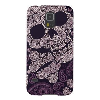 Paisley Skull Graphic Print (Purple) Galaxy S5 Case