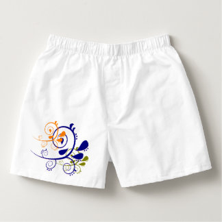 Paisley Sleepwear Shorts brightly colored vines