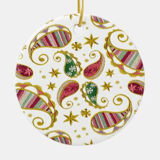 Paisley Solstice Ceramic Ornament