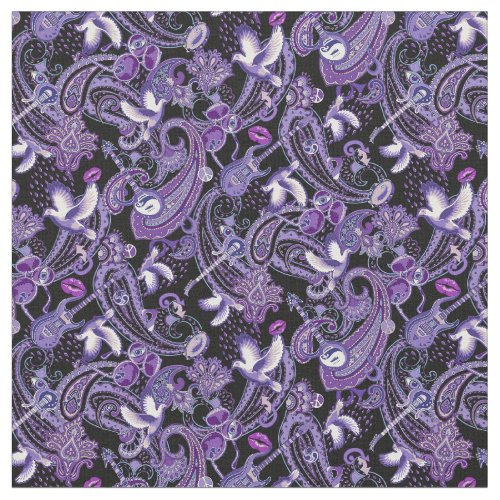 Paisley Songbook fabric -very small version