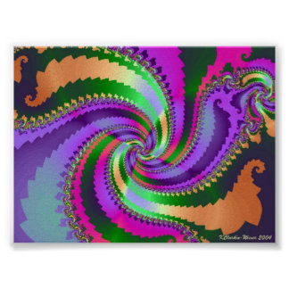 Paisley Spiral Poster