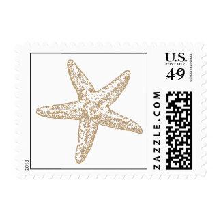 Paisley Starfish - Beachy Tan Stamp
