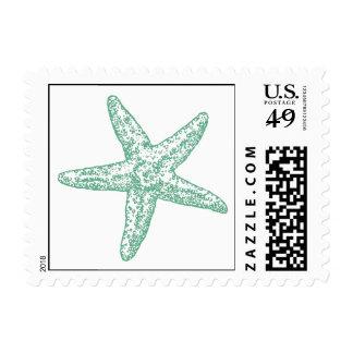 Paisley Starfish - Seafoam Green Stamp