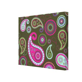 Paisley Stretched Canvas Prints