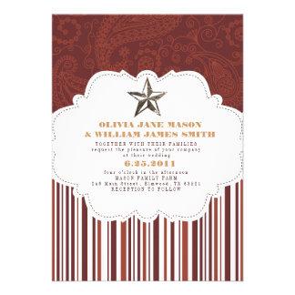Paisley Stripes Wedding Invitation