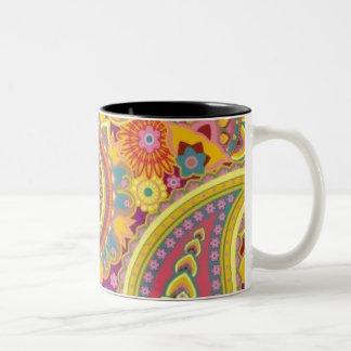 Paisley sulk Two-Tone coffee mug