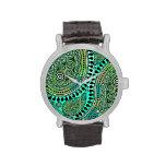 Paisley suprema (aguamarina de la turquesa) reloj