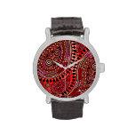 Paisley suprema (rojo de Borgoña) Reloj