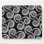 Paisley swirl pattern modern elegant mouse pad