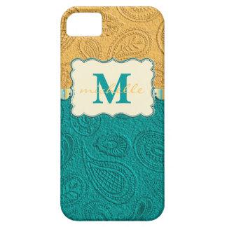 Paisley Texture Monogram iPhone 5/5S Cover