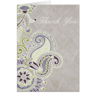 Paisley Thank You Greeting Card