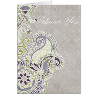 Paisley Thank You Greeting Card