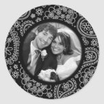 Paisley Thank You Photo Seal Classic Round Sticker
