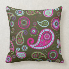 Paisley Throw Pillows