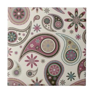 Paisley Tile/Trivet - Mauve - 1 Small Square Tile