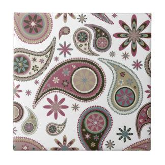 Paisley Tile/Trivet - Mauve - 2 Tile