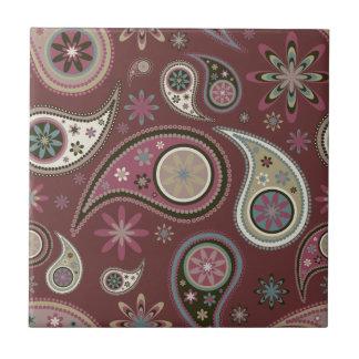 Paisley Tile/Trivet - Mauve - 3 Tile