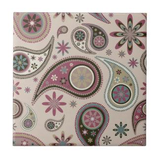 Paisley Tile/Trivet - Mauve - 5 Ceramic Tile