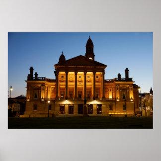 Paisley Town Hall at Night Poster