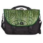Paisley verde bolsas de portátil