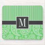 Paisley verde de moda tapete de ratón