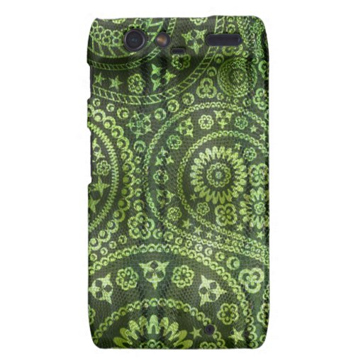 Paisley verde droid RAZR funda
