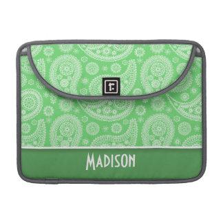 Paisley verde femenina funda macbook pro