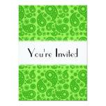 Paisley verde invitación 12,7 x 17,8 cm