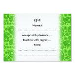 Paisley verde invitación 8,9 x 12,7 cm