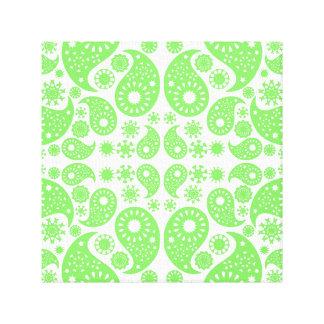 Paisley verde lona estirada galerias
