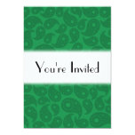 Paisley verde oscuro invitacion personalizada