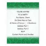 Paisley verde oscuro invitaciones personales