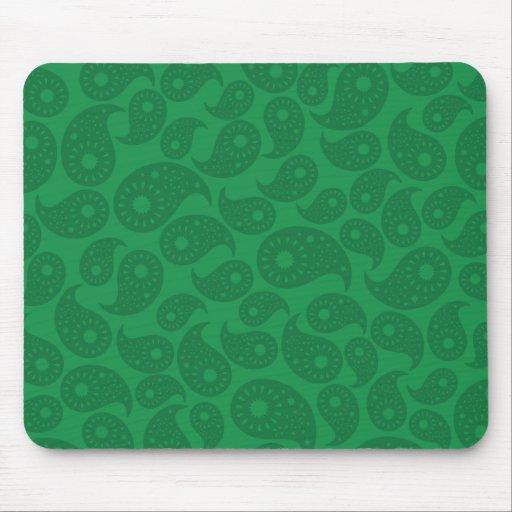 Paisley verde oscuro tapete de raton