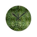 Paisley verde reloj