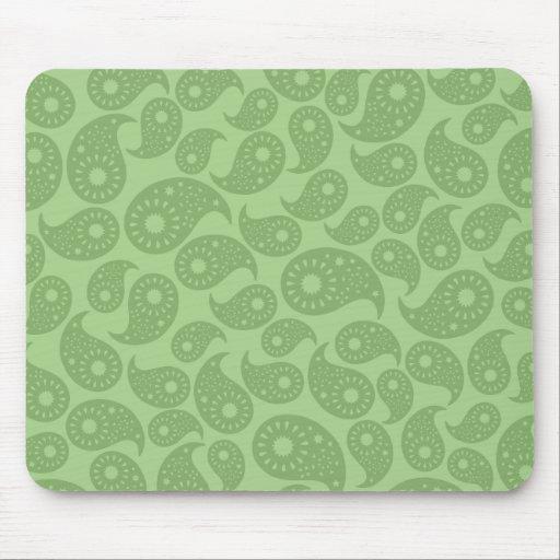 Paisley verde tapetes de ratones