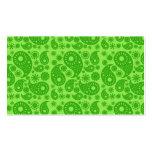 Paisley verde tarjetas de visita
