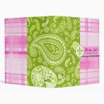Paisley verde y carpeta rosada de la tela escocesa