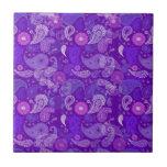 Paisley violeta tejas  ceramicas