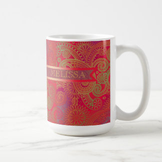 Paisley w/Ribbon Red Coffee Mug