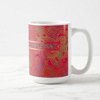 Paisley w/Ribbon Red Coffee Mug