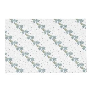 Paisley wedding design pattern placemat