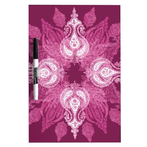 Paisley wheel purple pink sun flower Dry-Erase whiteboard